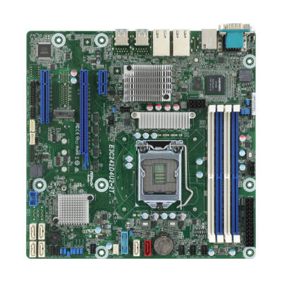 ASRock E3C242D4U2-2T Intel C242 So.1151 Dual Channel DDR4 mATX Retail - Motherboard - Intel Socket 1151 (Core i)