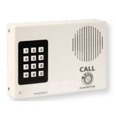 CyberData VoIP Intercom w/Keypad? Flush Mount Standard Col - VoIP Indoor Intercom with Keypad - Signal White