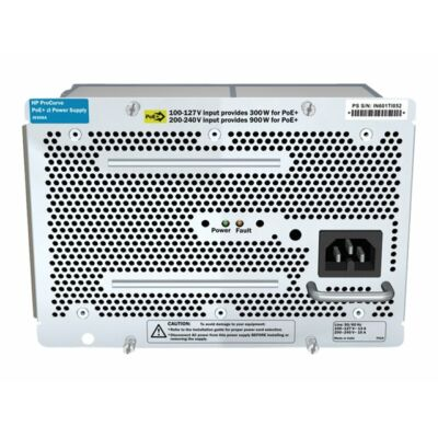 HP 1500W PoE+ zl Power Supply J9306A 1500W PoE+, 110-240 V, HP 5400 zl/8200 zl HP J9306A Hewlett Packard Enterprise J9306A. Nominal power: 1500W, AC