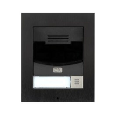 2N Telecommunications IP Solo WITH camera BLACK FLUSH
