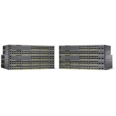 Catalyst 2960-XR, 48 x 10/100/1000 Ethernet, 4 x SFP, APM86392 600MHz dual core, DRAM 512MB, Flash 128MB, PoE 740W, IP Lite Cisco WS-C2960XR-48FPS-I