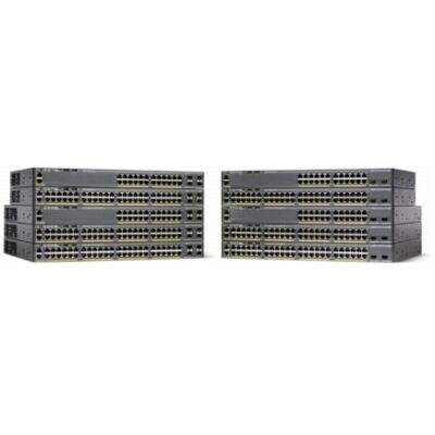 Catalyst 2960-XR, 48 x 10/100/1000 Ethernet, 4 x SFP, APM86392 600MHz dual core, DRAM 512MB, Flash 128MB, PoE 370W, IP Lite Cisco WS-C2960XR-48LPS-I