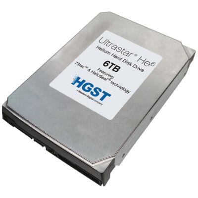 HGST Ultrastar He6 6 TB 7200 rpm SAS 64 MB cache 6 Gb/s 24x7 enhanced availability - Hdd - Serial Attached SCSI (SAS)
