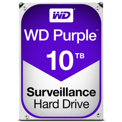 """WD Purple Surveillance Hard Drive WD100PURZ 3.5"""" SATA 10,000 GB - Hdd - 5,400 rpm - Internal"""