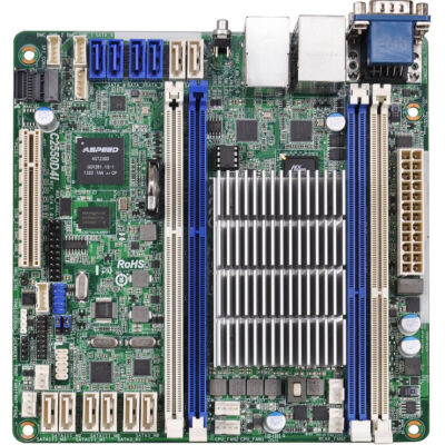 ASRock C2550D4I - bundkort - mini ITX - Intel Avoton C2550 Quad-Core - DDR3 1600/1333