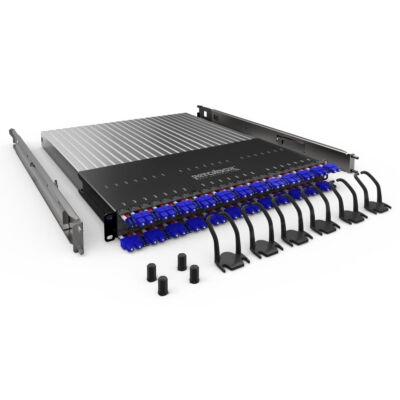"""PATCHBOX Plus+ OS2 - LC-SC - Schwarz - Silber - Kunststoff - Edelstahl - 1U - 19"""" - 1,7 m"""