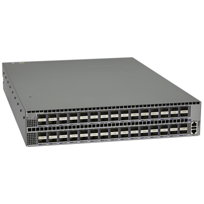 DCS-7280SR-48C6-F Arista 7280R, 48x10GbE (SFP+) & 6x100GbE QSFP switch, front to rear air, 2x AC and 2xC13-C14 cords