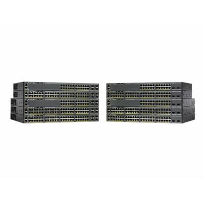 Catalyst 2960-X, 48 x 10/100/1000 Ethernet, 2 x SFP+, APM86392 600MHz dual core, DRAM 512MB, Flash 128MB, PoE 370W, LAN Base Cisco WS-C2960X-48LPD-L
