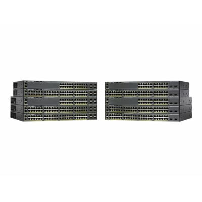 Catalyst 2960-X, 48 x 10/100/1000 Ethernet, 2 x SFP+, APM86392 600MHz dual core, DRAM 512MB, Flash 128MB, PoE 370W, LAN Base Cisco WS-C2960X-48LPD-L