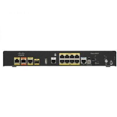 Cisco 1x GE WAN, 8 x GE LAN, 4 x PoE, USB 2.0, AUX, Black C891F-K9