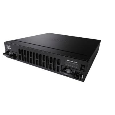 ISR4451-X / K9 Cisco 4451-X - Router - GigE - rackre szerelhető 1 Gbps 2 Gbps 4x RJ-45 Gigabit Ethernet 2x USB 2.0 3 NIM 2 SM 8 GB Flash Memória 2 GB DRA ...