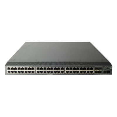 HP 5800AF-48G, IMC, Web browser, SNMP, Telnet, HTTPS, RMON1, FTP, 10/100/1000 Mbps, 5 µs, 55, 48, 55, 1U, Black JG225A