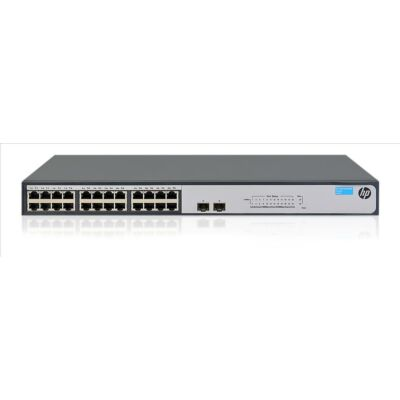 Hewlett Packard Enterprise 1420-24G-2SFP nem felügyelt L3 Gigabit Ethernet (10/100/1000) 1U szürke 24x 10/100/1000 port, 2x SFP 100/1000, 52 Gbps, 38,7 mpp