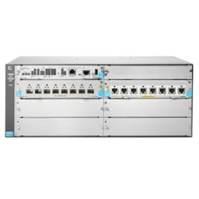 HP JL002A Hewlett Packard Enterprise 5406R, Gigabit Ethernet (10/100/1000), SD, Silver, DDR3 5406R 8-port 1/2.5/5/10GBASE-T PoE+ / 8-port SFP+ (No PSU) v3 zl2 Switch
