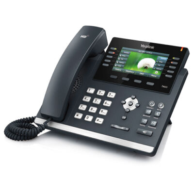 "SIP-T46G Yealink SIP-T46G - VoIP phone SIP-T46G - 4.3"" 480 x 272, USB, Dual-port Gigabit Ethernet, Up to 6 SIP accounts, PoE, Wall Mountable"