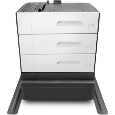HP PageWide Enterprise 3x500 sheet Paper Tray and Stand - PageWide Enterprise Color MFP 586 - Black,Grey - 38 kg - 668 x 720.2 x 660.5 mm G1W45A