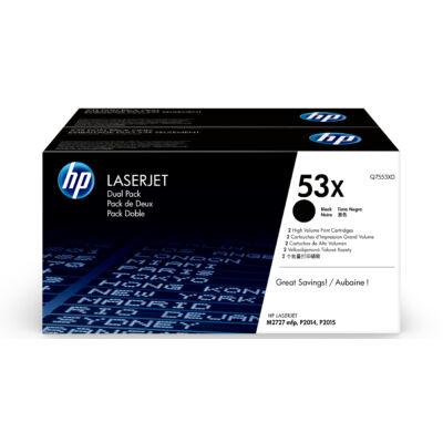 HP 53X - 14000 oldal - fekete - 2 db Q7553XD