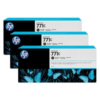 HP 771C - Eredeti - Pigment alapú tinta - Matt fekete - HP - HP DesignJet Z6200 fotónyomtató sorozat - HP DesignJet Z6610 fotónyomtató - HP