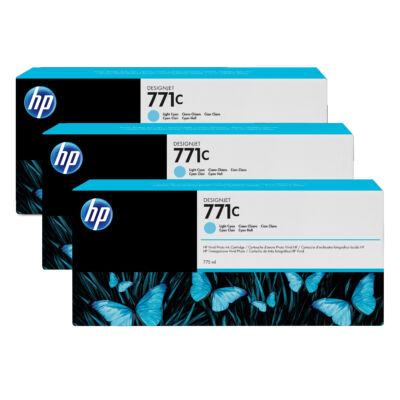 HP 771C - Eredeti - Pigment alapú tinta - Világos ciánkék - HP - HP DesignJet Z6200 fotónyomtató sorozat - HP DesignJet Z6610 fotónyomtató - HP