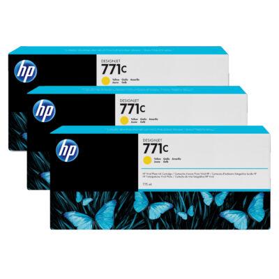 HP 771C - Eredeti - Pigmentalapú tinta - Sárga - HP - HP DesignJet Z6200 fotónyomtató sorozat - HP DesignJet Z6610 fotónyomtató - HP Desi
