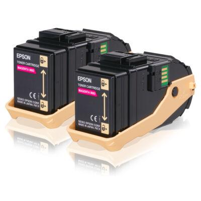 Epson Double Pack Toner Cartridge Magenta 7.5kx2 - 7500 pages - Magenta - 1 pc(s) C13S050607