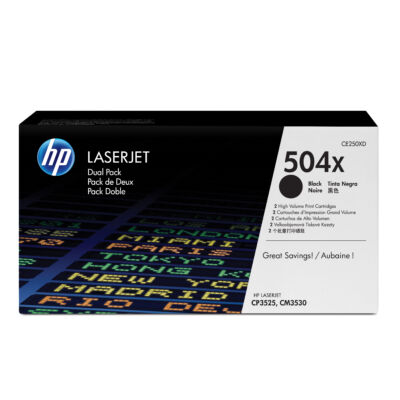 HP Color LaserJet 504X - Toner Cartridge Original - Black - 21,000 pages CE250XD