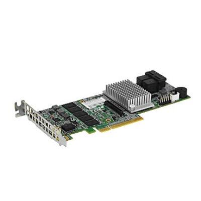 Supermicro 8 internal ports low-profile - 12 GB - RAID 0