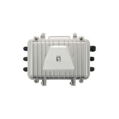 LevelOne PoE hibrid kábel vevő - 4 PoE kimenet - beltéri / kültéri - hálózati vevő - 2000 m - 100 Mbit / s - teljes, fele - 1000 bejegyzés - 14880 p