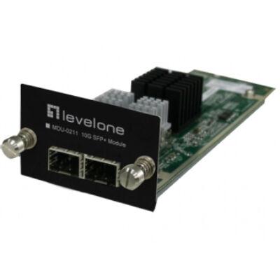 LevelOne 2-Port 10G SFP+ Module - 10 Gigabit Ethernet - SFP+ - GTL-2881 GTL-2882 GTL-2891 - 61 mm - 168 mm - 39 mm MDU-0211