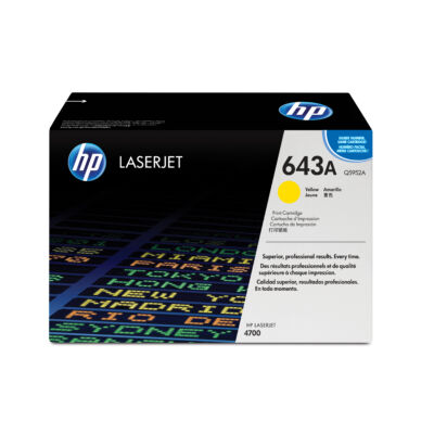 HP 643A - 10000 oldal - sárga - 1 db Q5952A