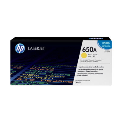 HP Color LaserJet 650A - Eredeti festékkazetta - sárga - 15 000 oldal CE272A