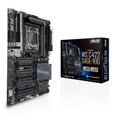 ASUS WS C422 SAGE/10G - Intel - LGA 2066 (Socket R4) - 14 nm - DDR4-SDRAM - 2133,2400,2666 MHz - 512 GB 90SW00J0-M0EAY0