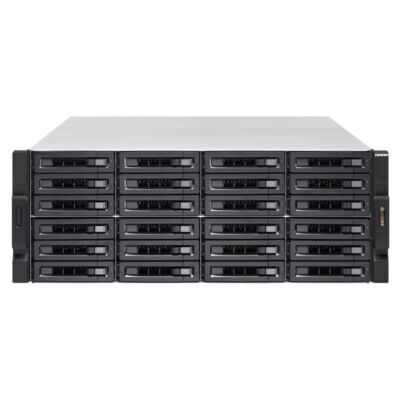 QNAP TVS-2472XU-RP - HDD, SSD - Soros ATA III - 2,5,3,5 - 0,1,5,6,10,50,60, JBOD - FAT32, NTFS, exFAT, ext3, ext4 - 3 GHz-es TVS-2472XU -RP-I5-8G