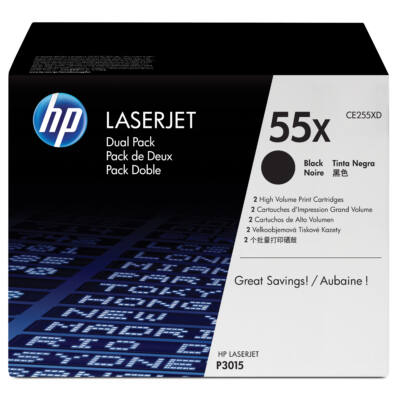 HP 55X - 25000 oldal - fekete - 2 db CE255XD