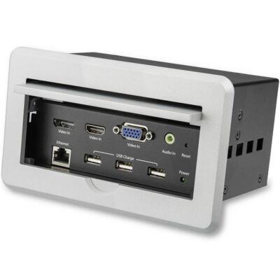 StarTech.com Konferenciaasztal csatlakozódoboz A / V - 4K - 3840 x 2160 képpont - 1280 x 720 (HD 720), 1920 x 1080 (HD 1080), 1920 x 1200 (WUXGA), 2560