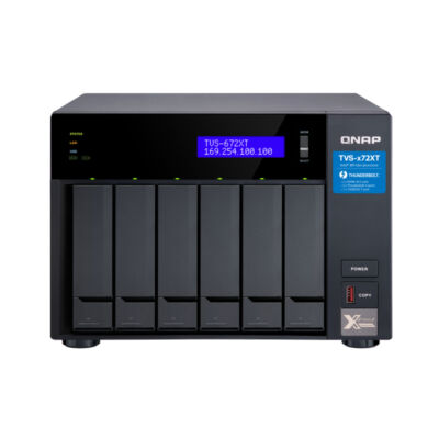 QNAP TVS-672XT - HDD, SSD - M.2, Serial ATA III - 2.5,3.5, M.2 - 0.1,5,6,10,50, JBOD - FAT32, HFS +, NTFS, exFAT, ext3, ext4 - 3,10 GHz-es TVS-672XT-I3-8G