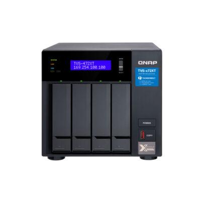 QNAP TVS-472XT - HDD, SSD - M.2, Serial ATA III - 2.5,3.5, M.2 - 0.1,5,6,10, JBOD - FAT32, HFS +, NTFS, exFAT, ext3, ext4 - 3.1 GHz-es TVS-472XT-PT-4G