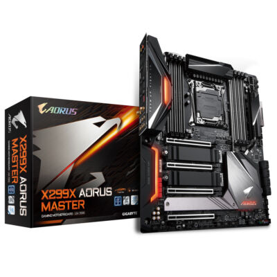 Gigabyte X299X Aorus Master - Intel - LGA 2066 - Intel Core i7,Intel Core i9 - DDR4-SDRAM - DIMM - 2133,2400,2666,2933 MHz X299X AORUS MASTER