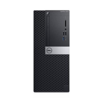 Dell OPTIPLEX 7070 MT - PC - Core i7 3 GHz - RAM: 16 GB DDR4 - HDD: 512 GB - UHD Graphics 600 9M0R9