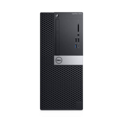 Dell OPTIPLEX 7070 MT - PC - Core i5 3 GHz - RAM: 8 GB DDR4 - HDD: 256 GB - UHD Graphics 600 D880V