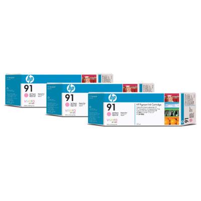 HP 91 - Original - Pigment-based ink - Light magenta - HP - HP DesignJet Z6100 Printer series - 3 pc(s) C9487A