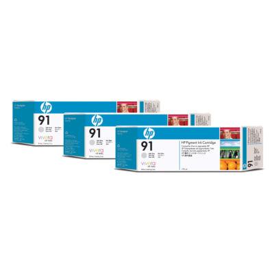 HP 91 - Eredeti - Pigmentalapú tinta - Világosszürke - HP - HP DesignJet Z6100 nyomtatósorozat - 775 ml C9482A