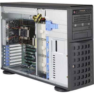 Supermicro 745TQ-R920B Full Tower fekete állványra szerelhető munkaállomás / kiszolgáló tok 920W 80PLUS platina redundáns tápegységgel - Torony - Szerver - M