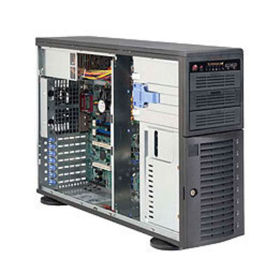Supermicro SuperChassis SC743T-500B - Rack - Fekete - EATX - 4U - 80 PLUS Bronz - UL - CUL - FCC - TUV - CE - EN 60950 / IEC 60950 - CCC - 500 W CSE-743