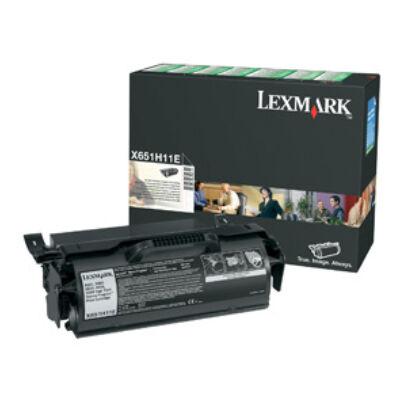 Lexmark X65x nagy kapacitású visszatérő program nyomtatókazetta - fekete X651H11E