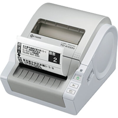 Brother TD-4100N - Direct thermal - 300 x 300 DPI - 110 mm/sec - 92 lpm - Grey - 2 MB TD4100NZG1