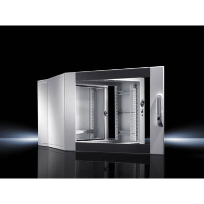 "Rittal DK 7712.135 - 12U - Wall mounted rack - Grey - Glass,Steel - 48.3 cm (19"") - 600 mm 7712135"