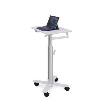 Ergotron StyleView S-Tablet Kosár - SV10 - Multimédia kosár - Alumínium, Fehér - Tabletta - 4 kerék - 38 cm - 15 kg SV10-1800-0