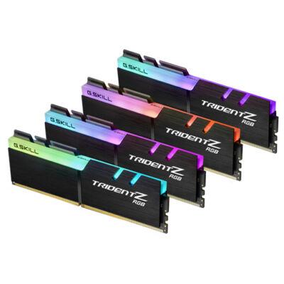 G.Skill Trident Z RGB 32GB DDR4 - 32 GB - 4 x 8 GB - DDR4 - 3200 MHz - 288-pin DIMM - Black F4-3200C14Q-32GTZR