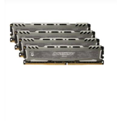 Crucial Ballistix Sport LT 64GB DDR4-2666 - 64 GB - 4 x 16 GB - DDR4 - 2666 MHz - Grey BLS4C16G4D26BFSB